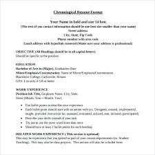 Free Chronological Resume Template Best Professional Chronological Resume Template Chronological Resume