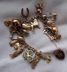 heavy 1960 s gold charm bracelet catawiki