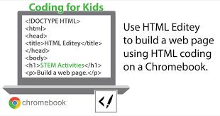 Teach HTML Coding using Chromebooks