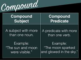 Image result for compound subjects and compound predicates