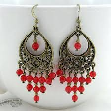 red chandelier earrings red ruby earrings red chandelier earrings bohemian dangles gypsy earrings hippie jewelry earrings