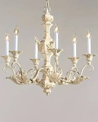 white wood chandelier distressed elegant french catania