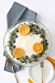 Carrot Cake With Natural Wreath Cake Decoration Festive Holiday