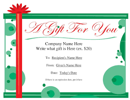 Free Gift Certificate Template For Word Free Gift Certificate Templates For Microsoft Word Fresh Christmas 1