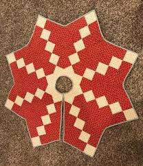 Quilted Christmas Tree Skirt Pattern Magnificent Design Ideas
