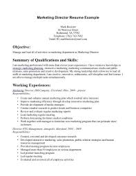 cover letter resume template marketing resume objectives objective an of lead activities director example and working marketing resume objectives