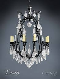 louis rock crystal chandelier