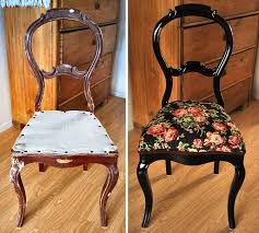 19th century rococo chair remake upholstery renovation diy