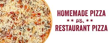 all pizza whether made at home or in a restaurant involves a crust sauce and cheese right yet homemade pizza and restaurant pizza often taste vastly