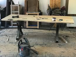 Esstisch Im Industriedesign Mit Baumkante Arbortech Shop