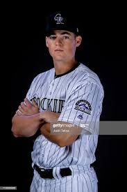 Peter Lambert of the Colorado Rockies poses during MLB Photo Day on...  ニュース写真 - Getty Images