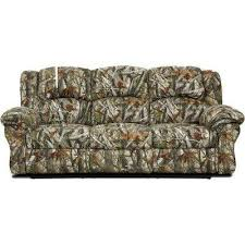 Camo Double Reclining Standard Sofa Printed Fabric Sofas61