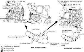 1998 05 infiniti i30 v6 3 0l serpentine belt diagram above is a diagram for replacing your serpentine belt for a 1998 05 infiniti i30 a v6 3 0l engine