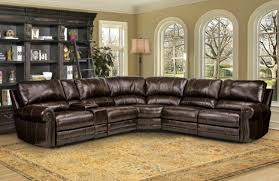 leather reclining sectional. Perfect Leather Picture Of Thurston 6 Piece Havana Leather Reclining Sectional And E