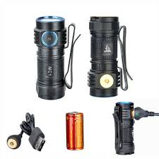 Trustfire MC1 <b>Mini LED Flashlight 1000LM</b> Cree XPL USB ...