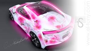 toyota ft hs hybrid flowers aerography
