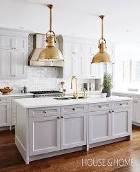 brass industrial pendant designer unknown via house home