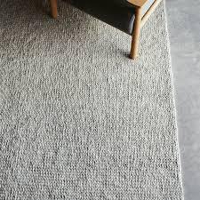 armadillo and co designer sierra weave wool rug light grey pumice