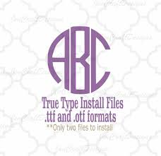 Monogram Font On Cricut Design Space Round Monogram Font In True Type Format Ttf Otf