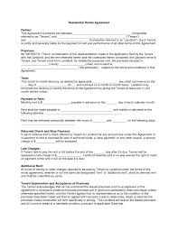 blank residential lease agreement text template sample our