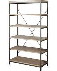... Homelegance Metal And Wood Bookcase Forty Inch Five Shelves X Style  Design Ideas Recomended Empty Stuffed ...
