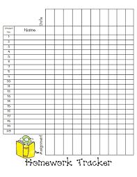 Homework Tracker Sheet Blog Pdf Education Homework