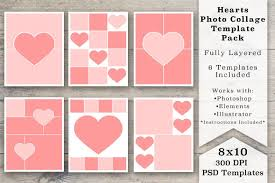 8 X 10 Heart Template 8x10 Heart Photo Collage Templates Personalizing Blog