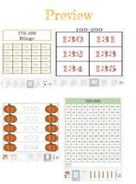 100 Chart Poster Numbers 100 200 Tracing Handwritting Bingo Number Poster Chart Flash Cards