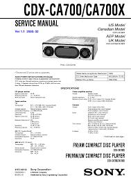 sony cdx f5710 wiring diagram sony wiring diagrams cars sony cdx ca700 ca700x ver 1 1 sm 2 rvice manual