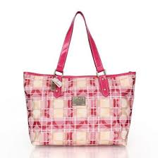 Coach Poppy In Signature Medium Pink Totes CDQ