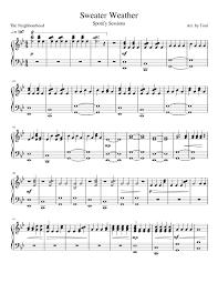 sweater weather piano sheet music sweater weather spotify sessions sheet music for piano musescore
