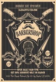 barber flyer barbershop by elegantflyer