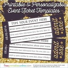 Admit One Ticket Template Free Cool Printable Ticket Template Free Invitation Thenepotistorg