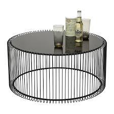 Table Basse Ronde Noire Design
