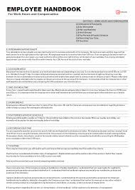 Sample Employee Handbooks Employee Handbook Template Sample Word Pdf