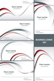 Product Line Card Template Simple Line Card Template Vector Free Vector In Encapsulated