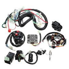 electrics spark plug wiring harness wire loom atv quad 125 250cc Chinese ATV 110 Schematic electrics spark plug wiring harness wire loom atv quad 125 250cc stator cdi coil