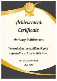 Achievement Certificate Sen Teacher Formal Certificates Printable Award Certificate