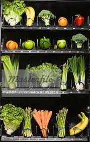 Fruit Vending Machines Impressive Fruit And Vegetables In A Vending Machine Stock Photo Masterfile