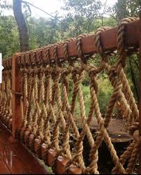 safe but simple durable rope railing