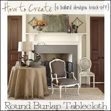 ballard designs burlap tablecloth knock off