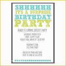 Free Printable Surprise Birthday Invitations Template Of 26