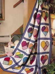 Beyond a Blanket: 10 Crochet Quilt Patterns – Crochet Concupiscence & hearts crochet quilt pattern Adamdwight.com