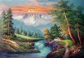 freehand 15 bob ross landscape oil paintings