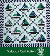 Sailboats Quilt Pattern – Sunset Family Living & sailboats quilt tutorial - irish chain and sailboat blocks Adamdwight.com