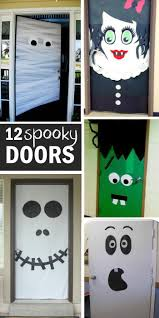 15 FUN HALLOWEEN FRONT DOORS. Diy Halloween Door DecorationsHalloween ...