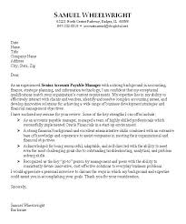 Cover Letter Accounting Position Sample Cover Letter Accounting