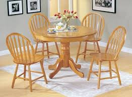 wood round dining table for 4 a chair country style oak finish wood round dining table