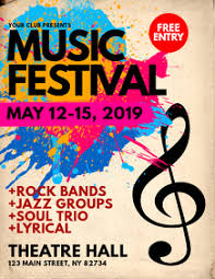 Free Music Poster Templates Festival Flyer Template Free Magdalene Project Org
