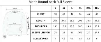 T Shirt Size Chart Sizechart For Qikink T Shirts And Other Apparel Products